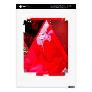 collage red iPad 3 skin