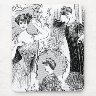 Collage retro del ejemplo de la moda tapete de ratones