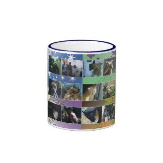 Collage Ringer Coffee Mug