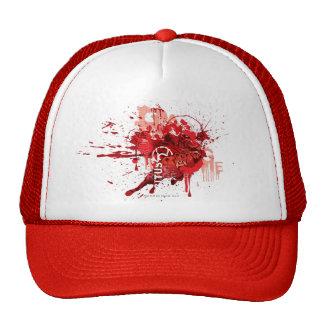 Collage rojo del cuerpo de la linterna gorra