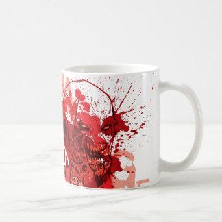 Collage rojo del cuerpo de la linterna taza