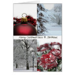 Collage rojo del invierno del navidad de la sobrin felicitación