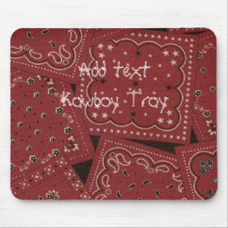 Collage rojo Mousepad del pañuelo del granero occi
