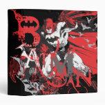 Collage rojo y negro de Batman