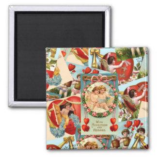 Collage romántico de las tarjetas del día de San Imán Cuadrado