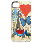 Collage romántico de París iPhone 5 Case-Mate Funda