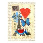 Collage romántico de París Invitacion Personalizada