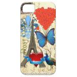 Collage romántico de París iPhone 5 Fundas