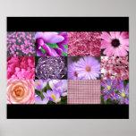 Collage rosado de la foto impresiones