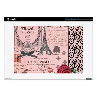Collage rosado de París del vintage 38,1cm Portátil Calcomanía