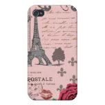 Collage rosado de París del vintage iPhone 4/4S Fundas