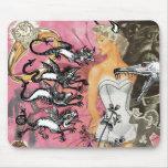 Collage rosado del cojín de ratón tapetes de ratón