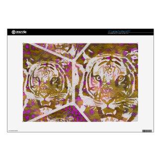 Collage rosado del tigre de Brown Portátil Calcomanía