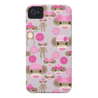 Collage rosado femenino lindo del modelo del chica iPhone 4 Case-Mate coberturas