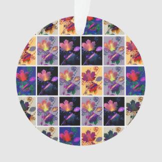 Collage rústico del edredón de remiendo de las