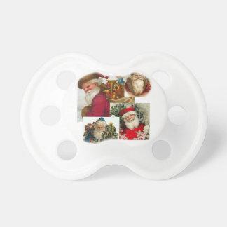 Collage Santa del vintage Chupetes Para Bebés