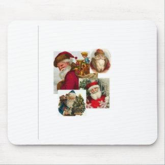 Collage Santa del vintage Mouse Pads
