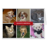Collage six photo Christmas holiday greeting story Card