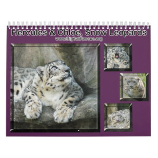 collage-snow-leopard wall calendars