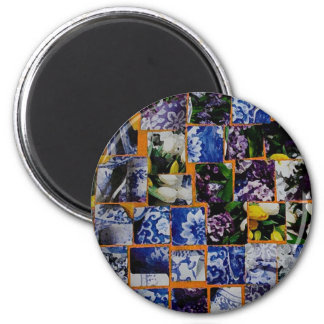 COLLAGE SPOONFLOWER MAGNET