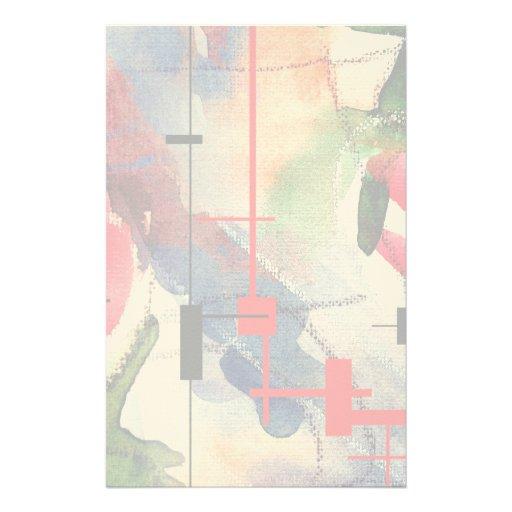 collage, técnicas mixtas y acuarela del arte abstr papeleria de diseño