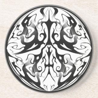 Collage tribal de Digitaces del tatuaje de la eleg Posavasos De Arenisca