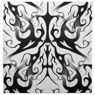 Collage tribal de Digitaces del tatuaje de la eleg Servilletas Imprimidas