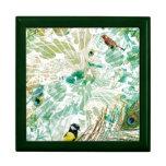 Collage tropical del paisaje caja de joyas