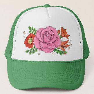Collage trucker cap hat (green)
