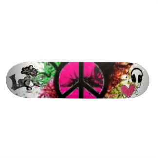 collage type skate board