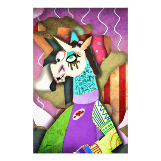 Collage Unicorn Stationery