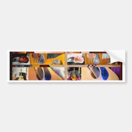 Collage uno de las guitarras pegatina de parachoque
