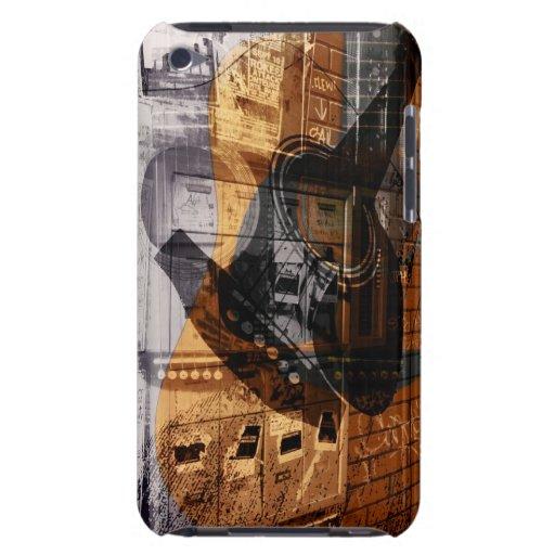 collage urbano de la foto de la guitarra acústica iPod touch cárcasa