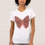 Collage uterino de la mariposa del cáncer de palab camiseta
