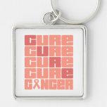 Collage uterino del cáncer de la CURACIÓN Llaveros Personalizados