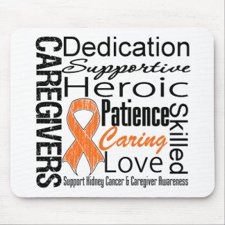 Collage v1 de los cuidadores del cáncer del riñón alfombrilla de ratón