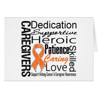 Collage v1 de los cuidadores del cáncer del riñón tarjeta de felicitación