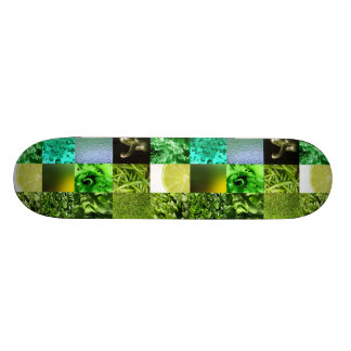 Collage verde de la fotografía skate boards