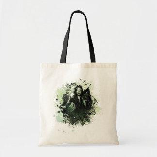 Collage verdoso del vector de Aragorn Bolsas De Mano