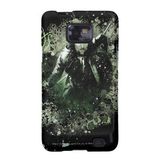 Collage verdoso del vector de Aragorn Carcasa Para Samsung Galaxy SII