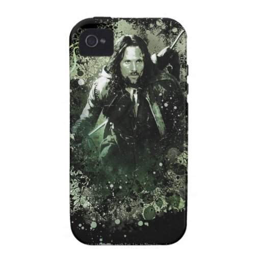 Collage verdoso del vector de Aragorn Vibe iPhone 4 Carcasa