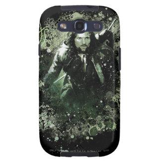 Collage verdoso del vector de Aragorn Samsung Galaxy S3 Carcasas