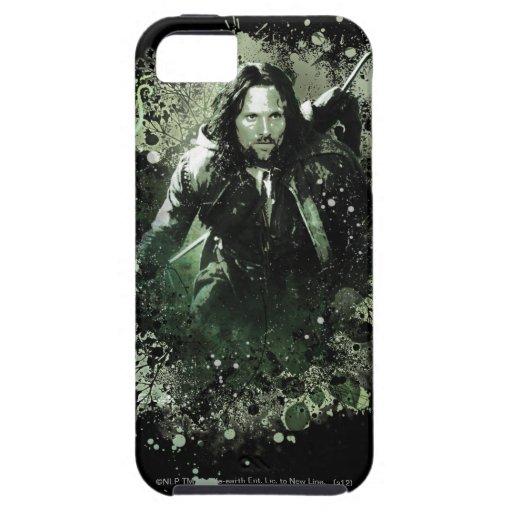 Collage verdoso del vector de Aragorn iPhone 5 Carcasa