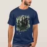 Collage verdoso del vector de Aragorn Playera