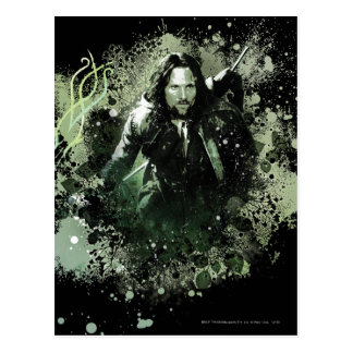 Collage verdoso del vector de Aragorn Postal