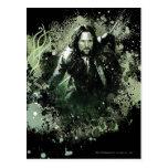 Collage verdoso del vector de Aragorn Postales