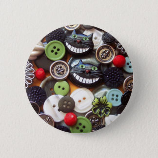 Collage with Black Cheshire Cat Buttons