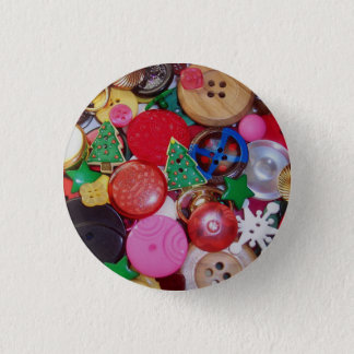 Collage with Christmas Tree Buttons