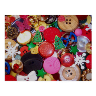Collage with Christmas Tree Buttons Postcards