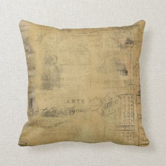 Collage Worn Vintage French Pillow